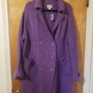 New Jamie Gries Cozy Knit Cardigan Sweater